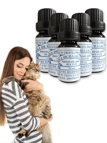 10 Fläschchen für Haustiere